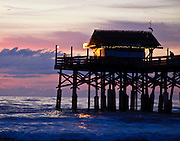 Cocoa Beach Pier at Sunrise - Beautiful Pink Tones