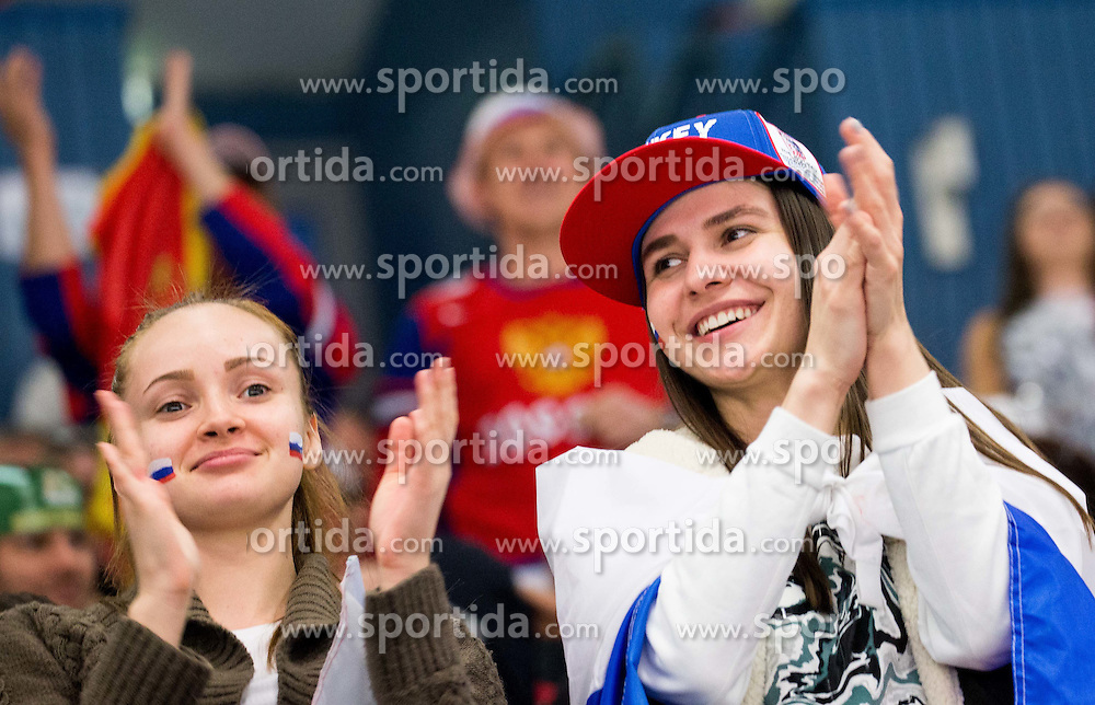 Fans of Russia during Ice Hockey match between Russia and Norway at Day 1 in Group B of 2015 IIHF World Championship, on May 1, 2015 in CEZ Arena, Ostrava, Czech Republic. Photo by Vid Ponikvar / Sportida