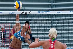 Simona Fabjan of Slovenia vs Inese Jursone of Latvia at A1 Beach Volleyball Grand Slam tournament of Swatch FIVB World Tour 2011, on August 2, 2011 in Klagenfurt, Austria. (Photo by Matic Klansek Velej / Sportida)