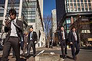 Salarymen during their lunch break in Marunouchi area of Tokyo.
