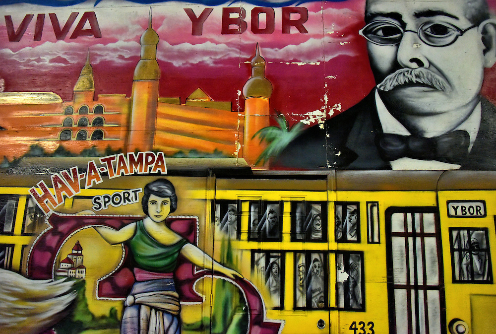 Viva Ybor Mural of Ybor City in Tampa, Florida<br />