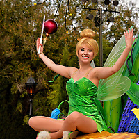 Tinker Bell on Parade Float at Magic Kingdom in Orlando, Florida<br />