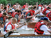 2001 0603 Dragon Boat Racing, River Nene, Peterbourough, Cambridgeshire. UK