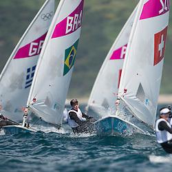 2012 Olympic Games London / Weymouth<br /> Racing day 1 Laser<br /> Laser RadialSUIBrugger Nathalie