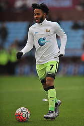 RAHEEM STIRLING MANCHESTER CITY, Aston Villa v Manchester City, The Emirates FA Cup 4th Round Villa Park Saturday 30th January 2016