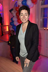 Dunja Hayali bei der Wahlparty zur US-Wahlnacht 2016 in der Hauptstadtrepräsentanz der Bertelsmann SE & Co KGaA in Berlin<br /> <br /> / 081116<br /> <br /> *** Election Party at the Bertelsmann House in Berlin, Germany; November 8th, 2016 ***
