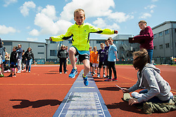 Children participate in the long jump during the Bristol Sport Festival - Photo mandatory by-line: Dougie Allward/JMP - Mobile: 07966 386802 - 06/06/2015 - SPORT - Multi-Sport - Bristol - SGS Wise Campus - Bristol Sport Festival Of Youth Sport - Festival Of Youth