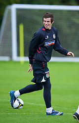 CARDIFF, WALES - Friday, September 5, 2008: Wales' Gareth Bale during training at Vale of Glamorgan Hotel ahead of the second 2010 FIFA World Cup South Africa Qualifying Group 4 match against Russia. (Photo by David Rawcliffe/Propaganda)