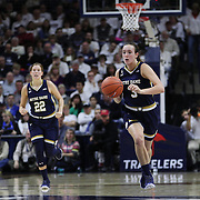 Marina Mabrey, Notre Dame, in action during the Notre Dame Vs UConn Women's Basketball game at Grampel Pavilion, Storrs, Connecticut, USA. 5th December 2015. Photo Tim Clayton