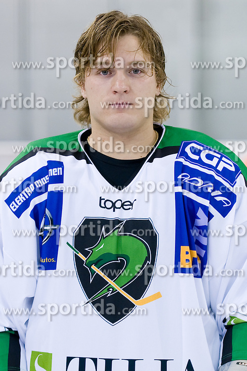 Tomi Mustonen, member of HDD Tilia Olimpija ice-hockey team for season 2010/2011 at official photo shooting in Hala Tivoli, Ljubljana, on September 1, 2010, in Ljubljana, Slovenia. (Photo by Matic Klansek Velej / Sportida)