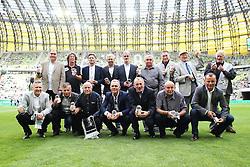 29.07.2015, PGE Arena, Gdansk, POL, Testspiel, OSP Lechia Gdansk vs Juventus Turin, im Bild DRUZYNA LECHII GDANSK KTORA POKONALA JUVENTUS W 1983 - TADEUSZ FAJFER, JACEK GREMBOCKI // during the International Friendly Football Match between OSP Lechia Gdansk and Juventus FC at the PGE Arena in Gdansk, Poland on 2015/07/29. EXPA Pictures © 2015, PhotoCredit: EXPA/ Newspix/ Lukasz Grochala<br /> <br /> *****ATTENTION - for AUT, SLO, CRO, SRB, BIH, MAZ, TUR, SUI, SWE only*****