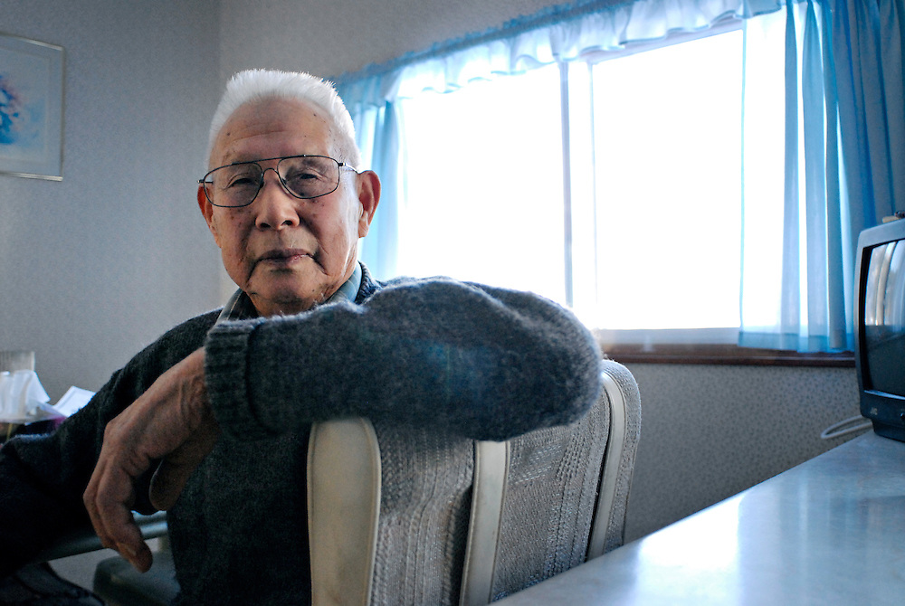 GREENWOOD, BC- 08/12/09 -  Tickie Higashi, at his home in Greenwood, British Columbia. Higashi was imprisoned in Greenwood during World War 2 with thousands of Japanese Canadians, but decided to stay after the war. Photo by Daniel Hayduk