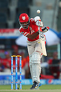 Cheteshwar Pujara of the Kings X1 Punjab pops the ball in the air and is caught during match 15 of the Pepsi Indian Premier League 2014 Season between The Kings XI Punjab and the Kolkata Knight Riders held at the Sheikh Zayed Stadium, Abu Dhabi, United Arab Emirates on the 26th April 2014<br /> <br /> Photo by Ron Gaunt / IPL / SPORTZPICS