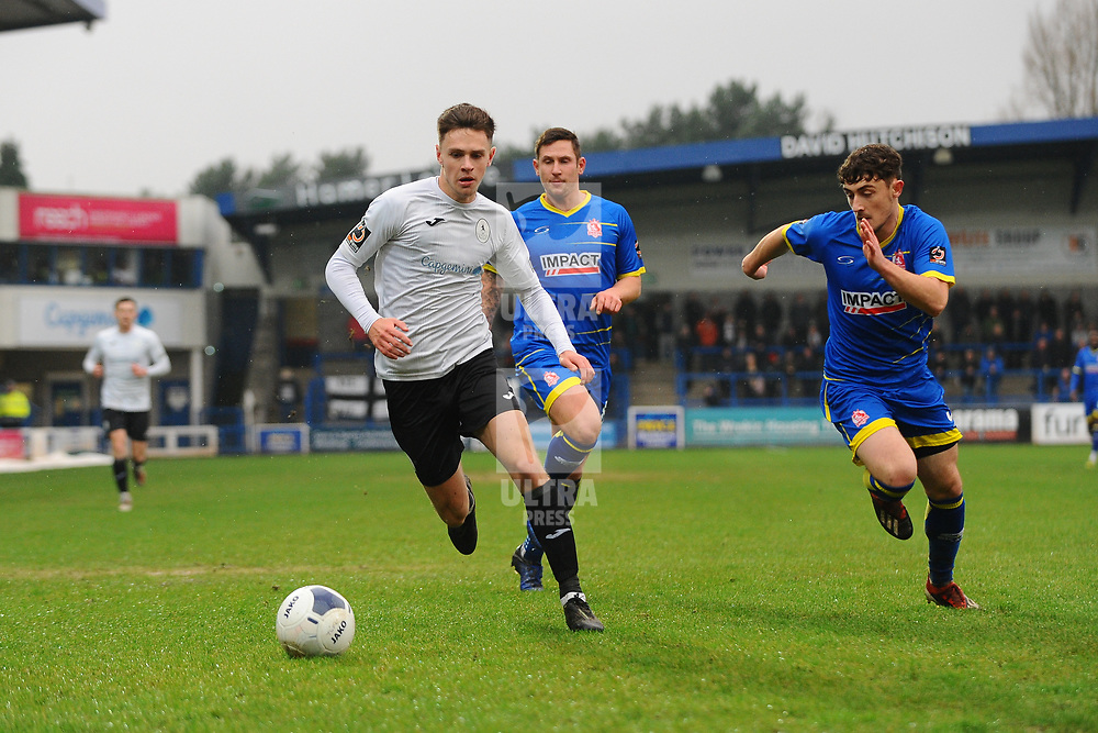 TELFORD COPYRIGHT MIKE SHERIDAN Ryan Barnett of Telford during the Vanarama Conference North fixture between AFC Telford United and Alfreton Town at the New Bucks Head Stadium on Thursday, December 26, 2019.<br /> <br /> Picture credit: Mike Sheridan/Ultrapress<br /> <br /> MS201920-036