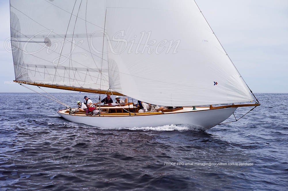 Cara Mia, NY 30 Class, sailing in the Corinthian Classic Yacht Regatta, race one.