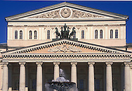Facade of the Bolshoi Theatre in<br /> Mowcow, Russia