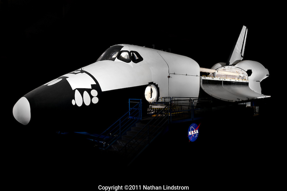 The Full Fuselage Trainer (FFT) is a full-scale mockup of the Space Shuttle Orbiter -- without the wings. It was used as a test bed for upgrades to the Shuttle fleet and for astronaut training such as extra-vehicular activity (EVA) and emergency egress. Built at Johnson Space Center in the 1970's, it is the oldest mockup in the Space Vehicle Mockup Facility (SVMF). The FFT included flight quality systems, such as a payload bay, lighting and closed circuit TV (CCTV).