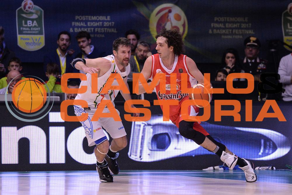 Della Valle Amedeo<br /> Grissin Bon Reggio Emilia - Betaland Capo D'Orlando  <br /> Poste Mobile Final Eight F8 2017 <br /> Lega Basket 2016/2017<br /> Rimini, 16/02/2017<br /> Foto Ciamillo-Castoria/M.Longo