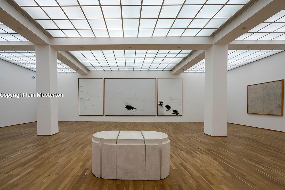 Art installation Thyrsis by Cy Twombly at Hamburger Bahnhof modern art museum in Berlin Germany