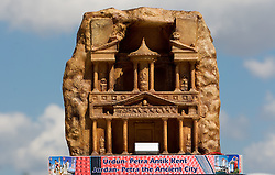 Scultures of world famous places from participants countries at 2010 FIBA World Championships on September 7, 2010 at the Sinan Erdem Dome in Istanbul, Turkey. At picture Jordan - Petra the Ancient City.(Photo By Vid Ponikvar / Sportida.com)