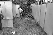 Man standing on grass, Glastonbury, Somerset, 1989