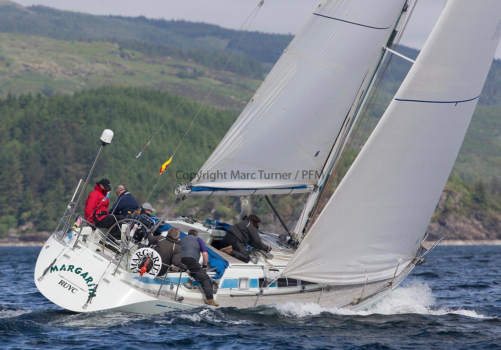 1Silvers Marine Scottish Series 2017<br /> Tarbert Loch Fyne - Sailing<br /> <br /> GBR1340R, Margarita, John Moorehead, Royal Ulster YC, Swan 40<br /> <br /> Credit: Marc Turner / CCC