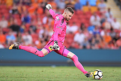 January 8, 2018 - Brisbane, QUEENSLAND, AUSTRALIA - Andrew Redmayne of Sydney (1) kicks the ball during the round fifteen Hyundai A-League match between the Brisbane Roar and Sydney FC at Suncorp Stadium on Monday, January 8, 2018 in Brisbane, Australia. (Credit Image: © Albert Perez via ZUMA Wire)