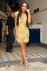© Licensed to London News Pictures. 17/09/2016.  LEIGH_ANNE PINNOCK of LITTLE MIX arrives for the JULIEN MACDONALD Spring/Summer 2017 show. Models, buyers, celebrities and the stylish descend upon London Fashion Week for the Spring/Summer 2017 clothes collection shows. London, UK. Photo credit: Ray Tang/LNP