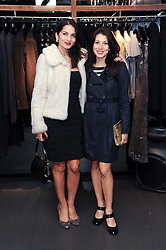 Left to right, YASMIN MILLS and LAUREN KEMP at a party hosted by InStyle to celebrate the iconic glamour of Dolce & Gabbana held at D&G, 6 Old Bond Street, London on 3rd November 2010.