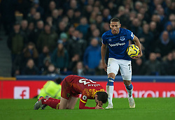 Richarlison of Everton shouts at Kenny McLean of Norwich City - Mandatory by-line: Jack Phillips/JMP - 23/11/2019 - FOOTBALL - Goodison Park - Liverpool, England - Everton v Norwich City - English Premier League