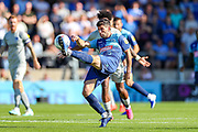 Wycombe Wanderers defender Joe Jacobson (3) clears the ball during the EFL Sky Bet League 1 match between Wycombe Wanderers and Portsmouth at Adams Park, High Wycombe, England on 21 September 2019.