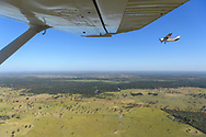 View from an airborn plane in the Pantanal, Mato Grosso do Sul, Brazil