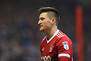 Nottingham Forest forward Joe Lolley (23) during the EFL Sky Bet Championship match between Nottingham Forest and Birmingham City at the City Ground, Nottingham, England on 3 March 2018. Picture by Jon Hobley.