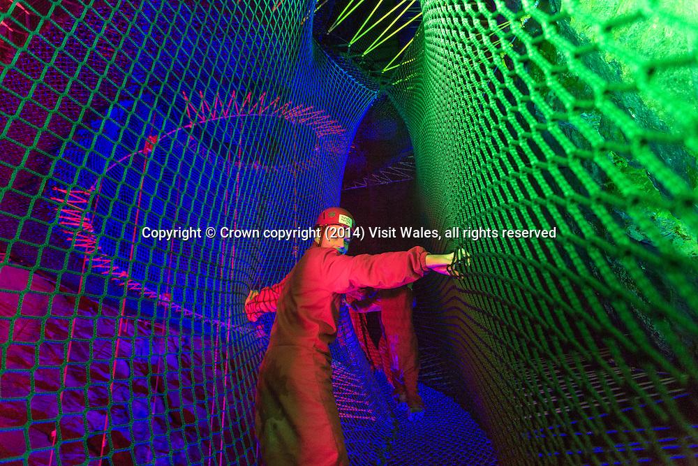 Bounce Below<br /> Llechwedd Slate Caverns<br /> Blaenau Ffestiniog<br /> Gwynedd<br /> North<br /> Tourist Attractions