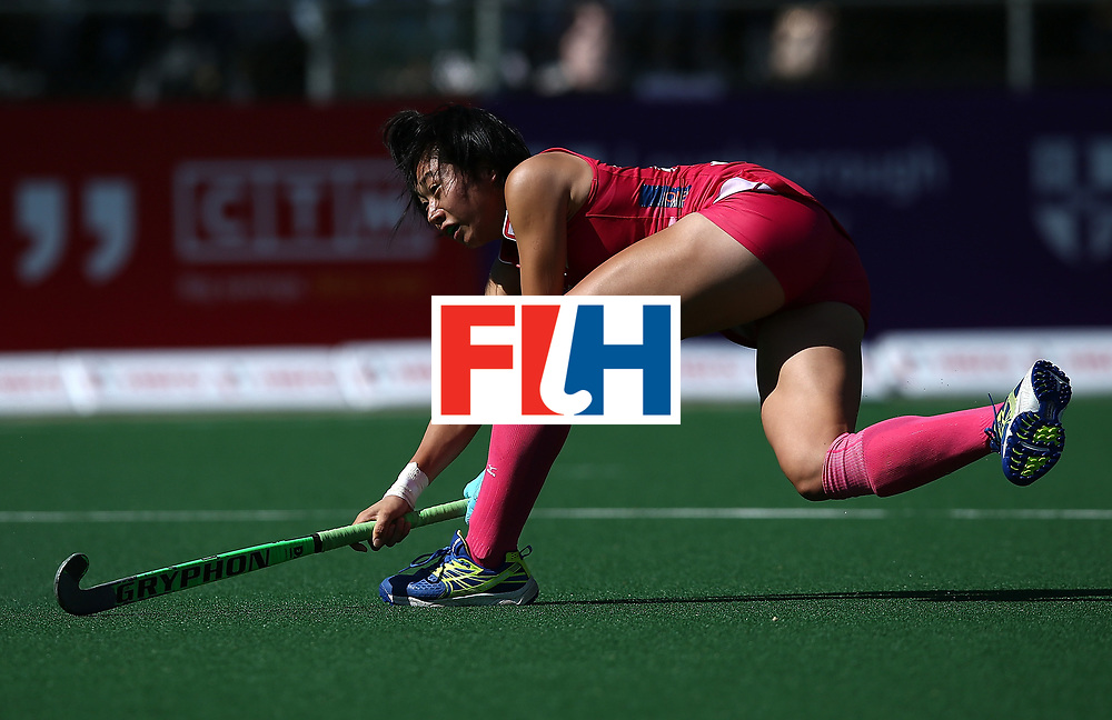 JOHANNESBURG, SOUTH AFRICA - JULY 16:  Mami Karino of Japan takes a shot at goal during day 5 of the FIH Hockey World League Women's Semi Finals Pool A match between Japan and Germany at Wits University on July 16, 2017 in Johannesburg, South Africa.  (Photo by Jan Kruger/Getty Images for FIH)