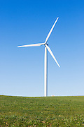 wind turbine from a wind farm in a rural paddock in the countryside near rural Glen Thompson, Victoria, Australia <br />