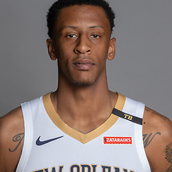 Sep 24, 2018; New Orleans, LA, USA; New Orleans Pelicans forward Troy Williams (0) poses for a portrait during Media Day at Ochsner Performance Center. Mandatory Credit: Derick E. Hingle-USA TODAY Sports