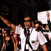 Alitalia lavoratori in lotta