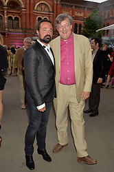 Left to right, EVGENY LEBEDEV and STEPHEN FRY at the V&A Summer Party in association with Harrod's held at The V&A Museum, London on 22nd June 2016.