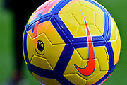 Premier League branded football during the Premier League match between Bournemouth and Southampton at the Vitality Stadium, Bournemouth, England on 3 December 2017. Photo by Graham Hunt.
