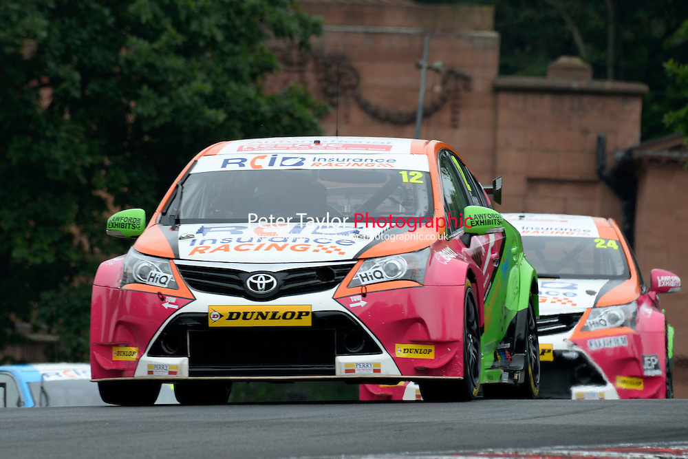 #12 Mike Epps GBR RCIB Insurance Racing Toyota Avensis  during first practice for the BTCC Oulton Park 4th-5th June 2016 at Oulton Park, Little Budworth, Cheshire, United Kingdom. June 04 2016. World Copyright Peter Taylor/PSP.