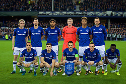 LIVERPOOL, ENGLAND - Thursday, September 28, 2017: Everton's players line-up for a team group photograph before the UEFA Europa League Play-Off 1st Leg match between Everton and Apollon Limassol FC at Goodison Park. (Pic by David Rawcliffe/Propaganda)