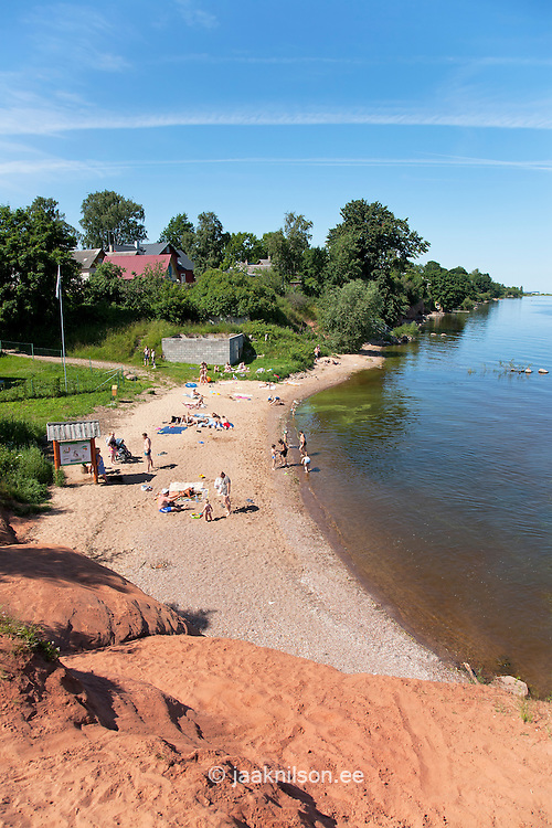 Kallaste Beach by Lake Peipsi, Tartu County, Estonia