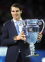 Tennis - 2017 Nitto ATP Finals  at The 02 - Day One, Sunday<br /> <br /> Rafa Nadal receives his Number one ranking trophy for the season <br /> <br /> <br /> <br /> COLORSPORT/ANDREW COWIE