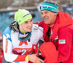 26.01.2020, Streif, Kitzbühel, AUT, FIS Weltcup Ski Alpin, Slalom, Herren, 2. Lauf, im Bild Daniel Yule (SUI, 1. Platz) // race winner Daniel Yule of Switzerland reacts after his 2nd run in the men's Slalom of FIS Ski Alpine World Cup at the Streif in Kitzbühel, Austria on 2020/01/26. EXPA Pictures © 2020, PhotoCredit: EXPA/ Johann Groder