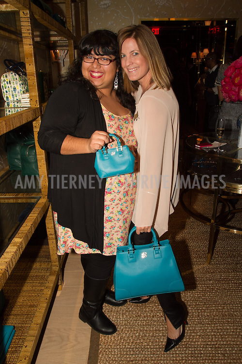 Former Step Up Student Rosy Garcia, and Daniella Peters with Tory Burch bags