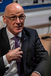Pictured: John Swinney<br /><br />The Deputy First Minister and Education Secretary visited the Royal High School in Edinburgh today and met students and staff to learn about a school library project aimed at tackling mental health issues.<br /><br />Ger Harley | EEm 10 October 2019