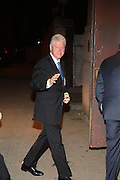 President Clinton arrives at The New York Historical Society's History Makers Award Gala honoring President Bill Clinton and opening of the exhibition ' Lincoln and New York ' held at The New York Historical Society on October 7, 2009 in New York City.