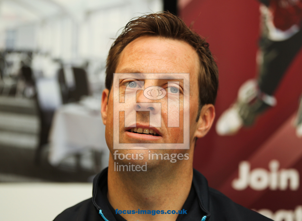 Marcus Trescothick talks during a press conference held during the Somerset County Cricket Club media day at the County Ground, Taunton, Taunton<br /> Picture by Tom Smith/Focus Images Ltd 07545141164<br /> 31/03/2014