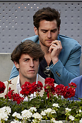 May 13, 2018 - Madrid, Madrid, Spain - Real Sociedad football player Alvaro Odriozola attends day nine of the Mutua Madrid Open tennis tournament at the Caja Magica on May 13, 2018 in Madrid, Spain  (Credit Image: © David Aliaga/NurPhoto via ZUMA Press)